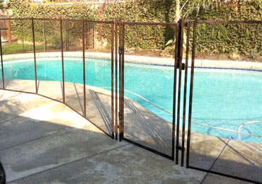 Brown Pool Fence